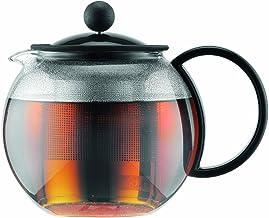 Bodum assam zaparzacz do herbaty (French Press System, stały filtr ze stali nierdzewnej), pojemność 0,5 l, czarny