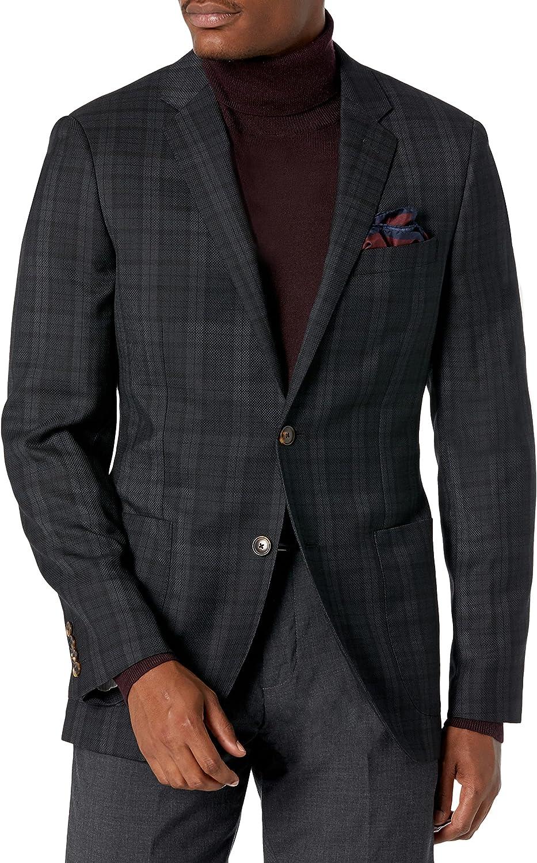 Amazon Brand - Buttoned Down Men's Slim Fit Italian Wool Plaid Sport Coat