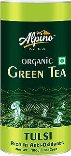 Alpino Certified Organic Tulsi Green Tea 100 G (Rich in Anti-Oxidants / Detox Green Tea)