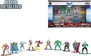 Jada 98663 Nano Metalfigs Dc Comic 10-Pack Miniature Diecast Figures, 1.65