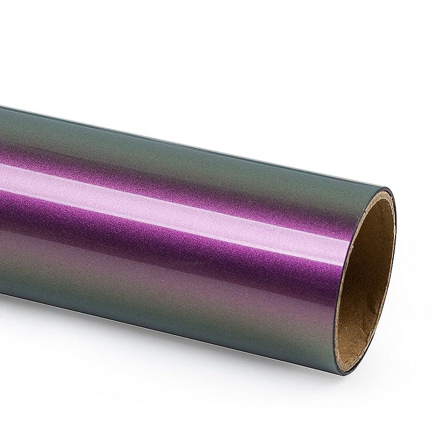 RUSPEPA Gradual Heat Transfer Vinyl -Gradient Change Color HTV for DIY T-Shirts-20 X 12Inch- Purple and Brown