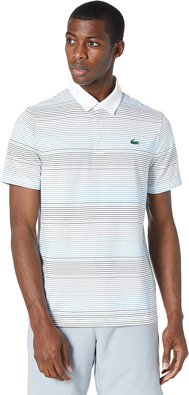 Lacoste Men's Sport Short Sleeve Fine Dry Stripe Ultra Ranking TOP3 Shir Max 47% OFF Polo