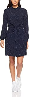 French Connection Women's Micro Star Printed Dress, Nocturnal/Summer White