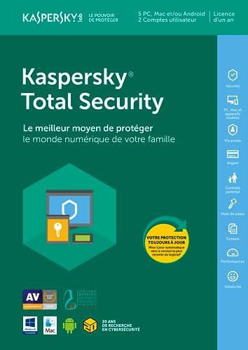 Kaspersky Total Security 2018 (5 Postes / 1 An) [Téléchargement]