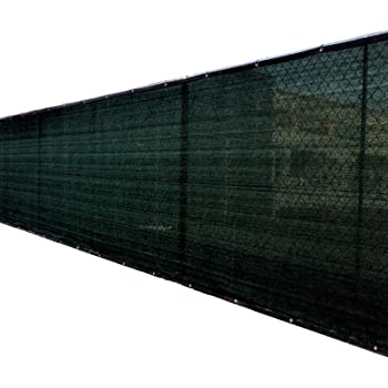 5ft x 50ft 3rd Gen Black Fence Privacy Screen Windscreen Shade Cover Mesh Fabric (Aluminum Grommets) Home, Court, or Construction