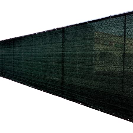 8x25 Black Fence Privacy Screen Windscreen Cover Shade Cloth ...