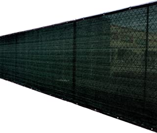 4'x50' 4ft Tall 3rd Gen Black Fence Privacy Screen Windscreen Shade Cover Mesh Fabric (Aluminum Grommets) Home, Court, or Construction