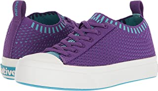 Native Jefferson 2.0 Liteknit Juniors Slip Ons Starfish Purple/Shell White Girls 3