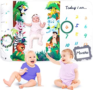 Baby Monthly Milestone Blanket - For Picture Perfect Memories Large 60