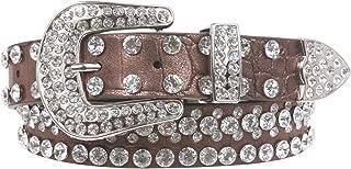 "Kids 1 1/16"" (27 mm) Western Cowgirl Rhinestone Studded Skinny Belt"