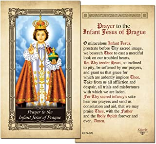 The Infant Jesus of Prague Laminated Prayer Card - Pack of 3