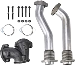Orion Motor Tech Exhaust Manifold Bellowed Up Pipe Kit Compatible with 99-03 Ford 7.3L Powerstroke Turbo V8 Diesel Performance F250 F350 Super Duty Excursion E350| 1999 2000 2001 2002 2003