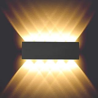 BELLALICHT Lampe Murale en aluminium Interieur 10W Applique Murale haut et bas Luminaire Exterieur Imperméable pour Couloi...