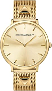 Rebecca Minkoff Women's Quartz Watch with Stainless Steel Strap, Gold, 16 (Model: 2200002)