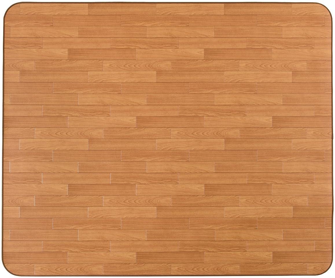 クッションフロアラグ 木目 サクラC 約185×400cm 撥水 防炎