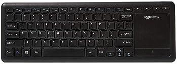 Black Wireless Mini Ultra Slim Keyboard and Mouse For Easy Smart TV Contol for Sony BRAVIA KDL55W829BBU Smart 3D 55 LED TV Smart TV