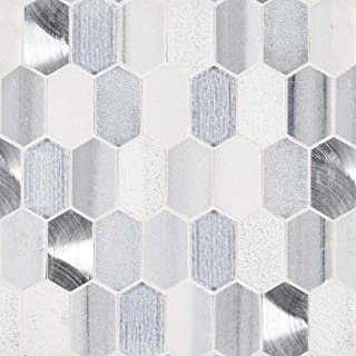 Harlow Picket 8mm Glass Mosaic Tile