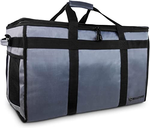 "BELLEFORD Insulated Food Delivery Bag PRO XXL - 23x14x15"" Waterproof Grocery Storage [Warm & Cool] - Lunch Buffet Ser..."