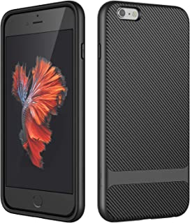 JETech Case for Apple iPhone 6s Plus and iPhone 6 Plus, Slim Protective Cover with Shock-Absorption, Carbon Fiber Design, Black
