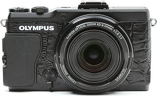 Japanhobbytool Olympus STYLUS XZ-2 Camera Leather Decoration Sticker Crocodile type 8010 Black