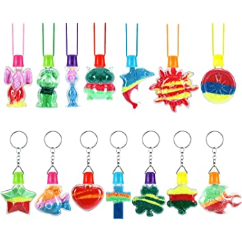 12 Dolphin Sand Art Bottle Necklaces RINCO 67099