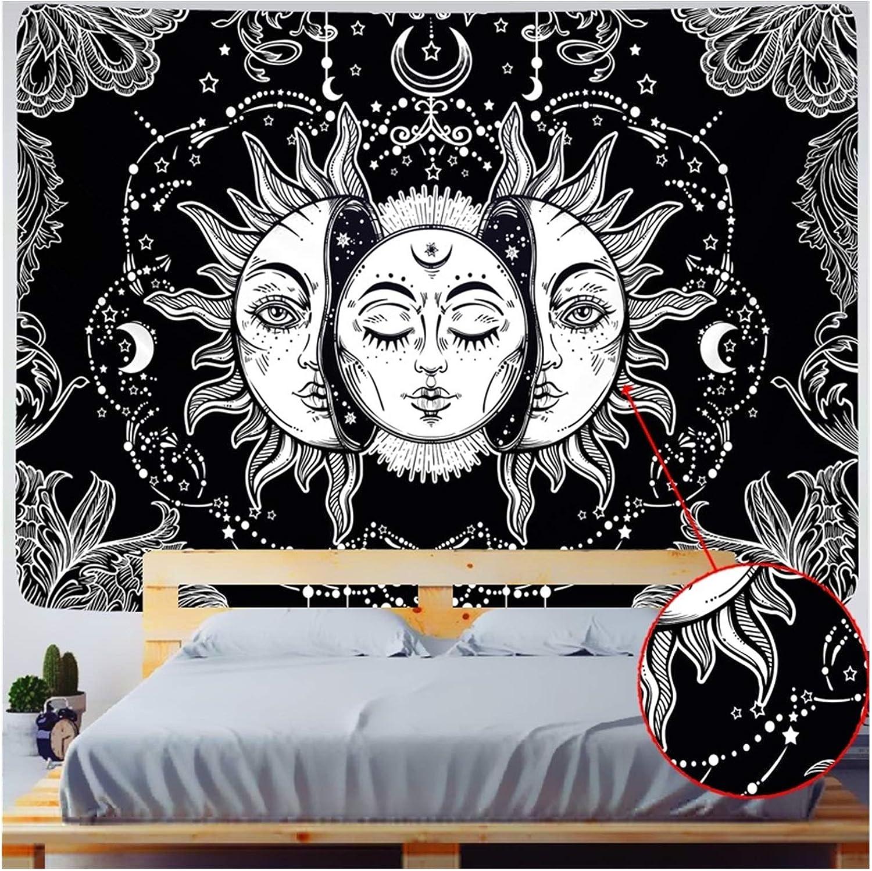 Tapestries Moon Tapestry Indian Mandala Selling rankings SALENEW very popular Starry Eu BlackAnd White