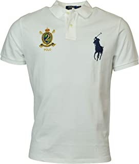 5063fc491 Polo Ralph Lauren Mens Custom Slim Fit Big Pony Crest Polo Shirt