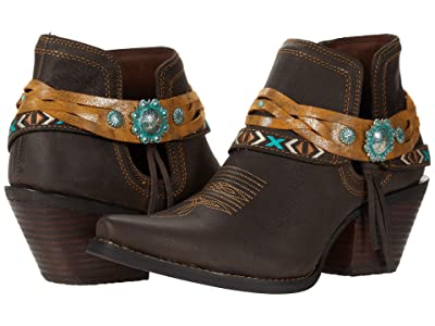 Durango Crush 6 w/ Belt Accessories (Dark Chestnut) Women