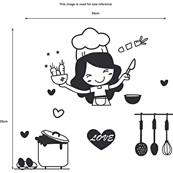 Buy Happy Walls Cartoon Girl Cooking Food Switch Board Sticker For Kitchen And Home Walls Online At Low Prices In India Amazon In