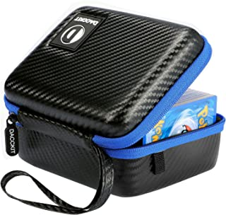 D DACCKIT Carrying Case Compatible with Pokemon Cards - Fits Up to 400 Cards, Card Holder with Hand Strap and Carabiner
