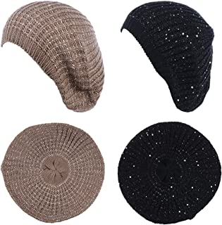 de35e80630a85 FREE Shipping. BYOS Women s Fall French Style Cable Knit Beret Hat W Sequin    Wooden Button