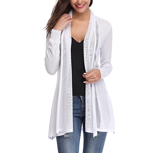 1c2966afdcecf5 Abollria Waterfall Cardigan for Women Summer Lightweight Long Sleeve Open  Front Cardigans