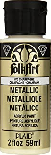 FolkArt Metallic Acrylic Paint in Assorted Colors (2 oz), 675, Champagne