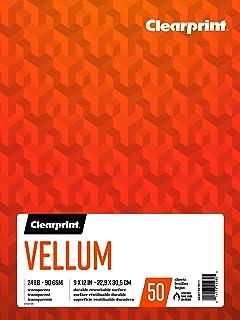 $20 » Clearprint Vellum Pad, 24 LB, 90 GSM, 9 x 12 Inches, 50 Sheets Per Pad, 1 Each (26321501011)