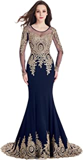 Best blue long sleeve two piece prom dress Reviews