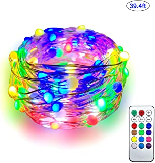 Dotlite Fairy String Lights, 39ft/12M 100 RGB LEDs Twinkle Lights with IR Remote, Multi-Color Change Firefly Lights with 12 Modes for Home Bedroom Birthday Wedding Party Patio Christmas Decoration