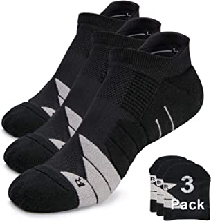 Compression Athletic No Show Running Socks with CoolMax Cushion for Men & Women