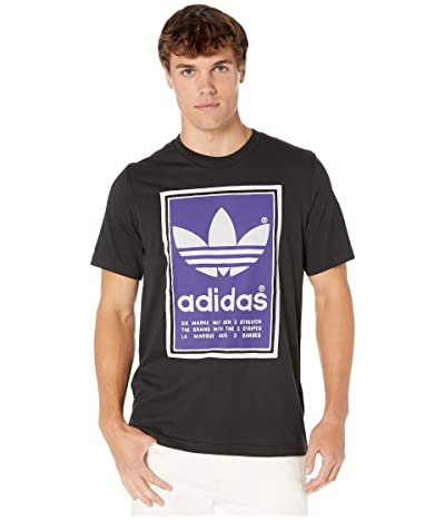 adidas Originals Filled Label Tee (Black/Collegiate Purple) Men