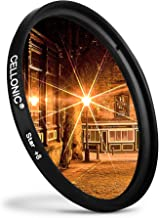 CELLONIC   Star Filter compatible with Sony 72mm Point  Cross Filter  Starburst Effect