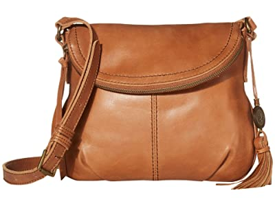 The Sak Buena Leather Small Flap Crossbody (Tobacco) Handbags