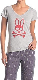 Psycho Bunny Women's Fitted Grande Bunny Tee Logo T-Shirt