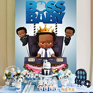 Boss Baby Backdropfor Boy Baby Shower Backgrounds Backdrop African Boy Tabletop Birthday Photographic Background