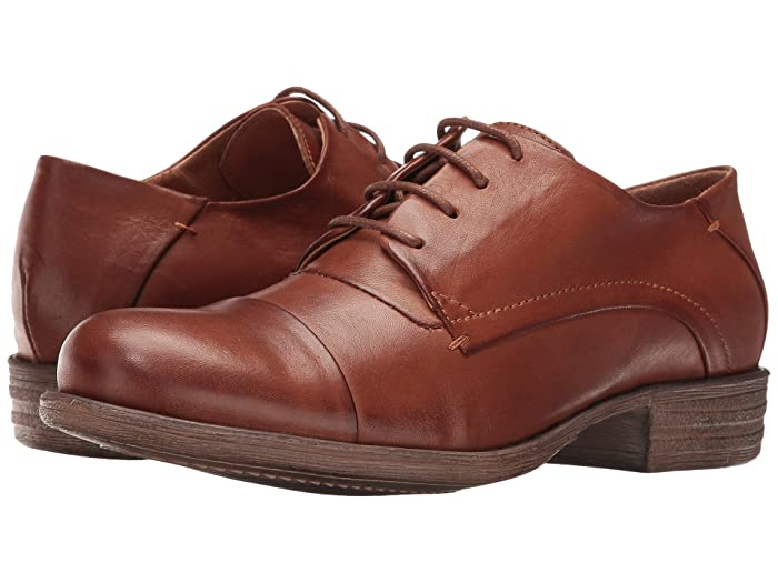Women's Oxford Shoes – Vintage 1920s, 1930s, 1940s Heels Miz Mooz Letty Brandy Womens Lace up casual Shoes $129.95 AT vintagedancer.com
