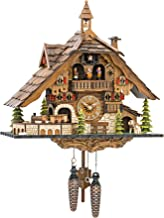 Engstler Quartz Cuckoo Clock Black Forest House with Moving Train, with Music EN 48110 QMT