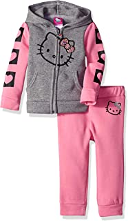 Hello Kitty Baby Girls 2 Piece Hooded Fleece Active Set
