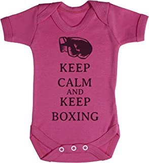 TRS Clothing TRS - Calm Keep Boxing Baby Bodys/Strampler 3-6 Monate Rosa