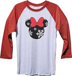 "Minnie Mouse Christmas Baseball Tee ""Minnie Mouse"" Disney Christmas Baseball Tee"