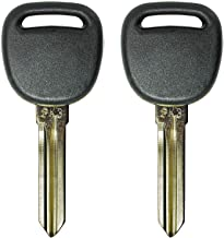 QualityKeylessPlus TWO Replacement Transponder Chip Keys PK3 B107PT for GM Vehicles with FREE KEYTAG