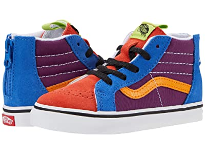 Vans Kids Sk8-Hi Zip (Infant/Toddler) ((Mix & Match) Grape Juice/Bright Marigold) Boys Shoes