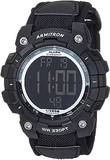 Armitron Sport Men's Accented Digital Chronograph Black Nylon Strap Watch